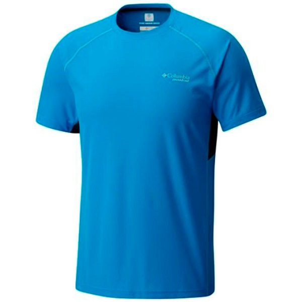 Large tricou barbati columbia titan ultra short sleeve albastru
