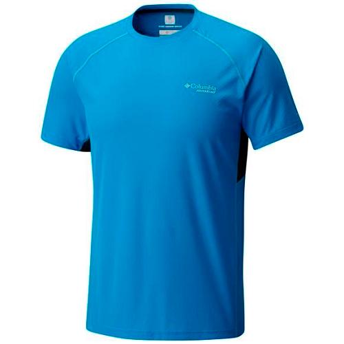 Tricou barbati columbia titan ultra short sleeve albastru